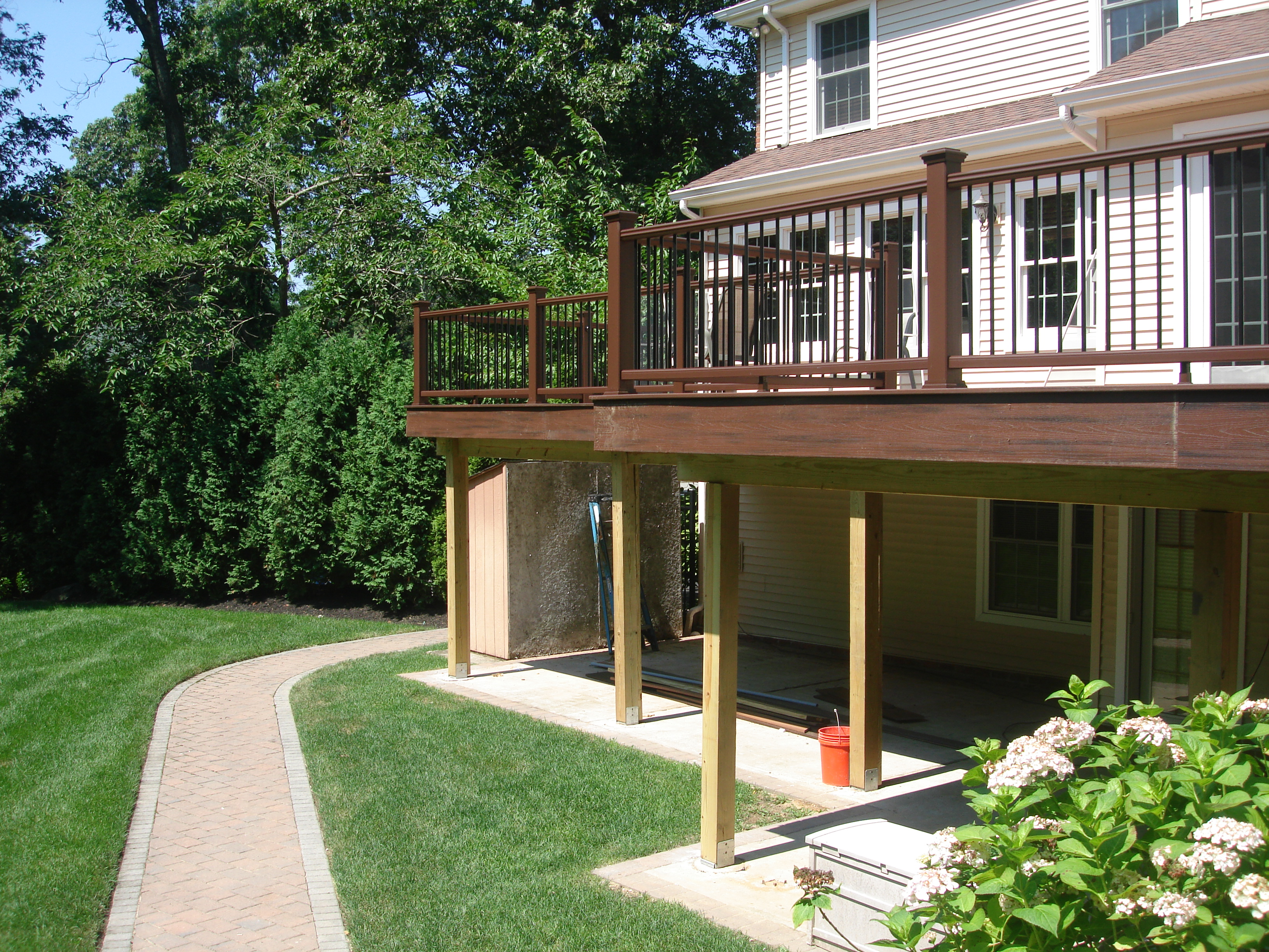 Pin second floor deck on pinterest for Second floor deck